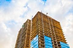 Edificio construido en cemento