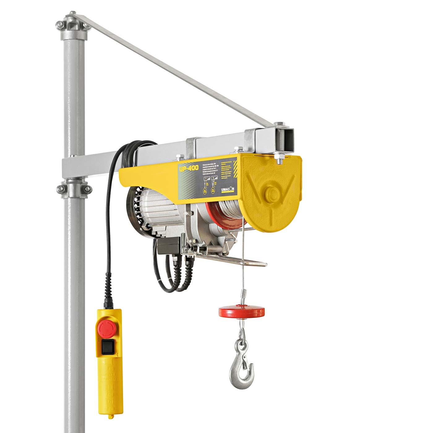 Polipastos eléctricos para la construcción modelo UP fabricados por Umacon